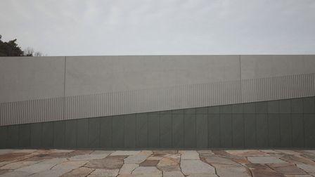 美術館改修で経年コンクリートを改質+化粧のイメージ